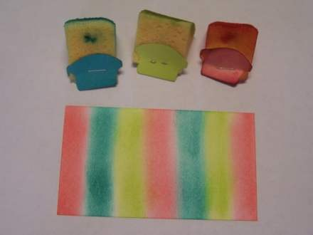 Watercolor stripe colors, Bermuda Bay, Lemon Lime Twist & Flirty Flamingo