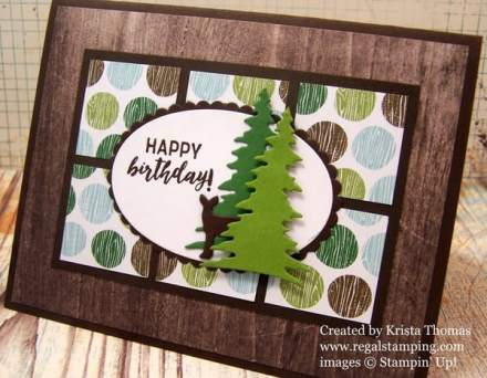 Happy Birthday Deer with Card Front Builder Framelits, by Krista Thomas