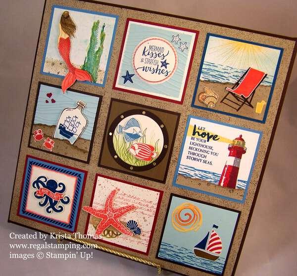 Ocean Theme Framed Art by RegalStamping on Etsy