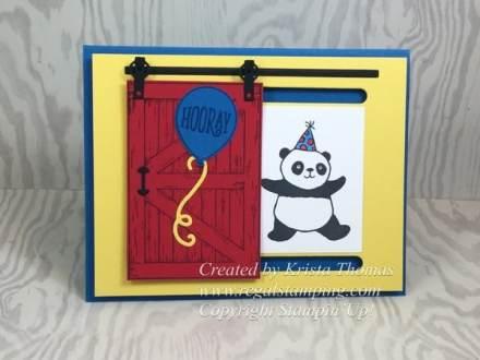 Barn Door Party Panda Card and Tutorial