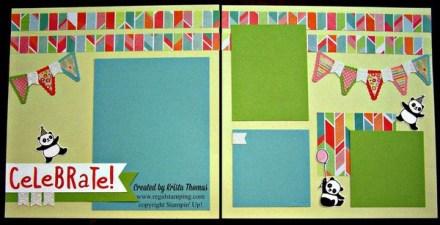 Party Panda Scrapbook Layout by Krista Thomas