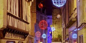 Illumination de Noël dans la ville
