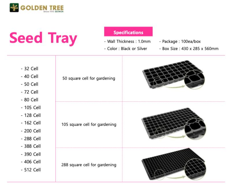 Bandejas de germinación, seed trays