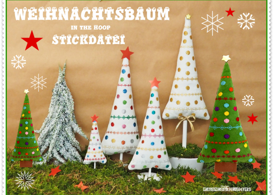 Weihnachtsbaum Stickdatei in-the-hoop