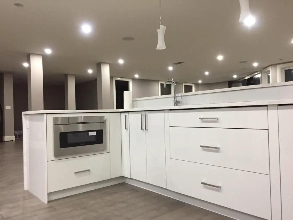 high gloss white bar cabinet