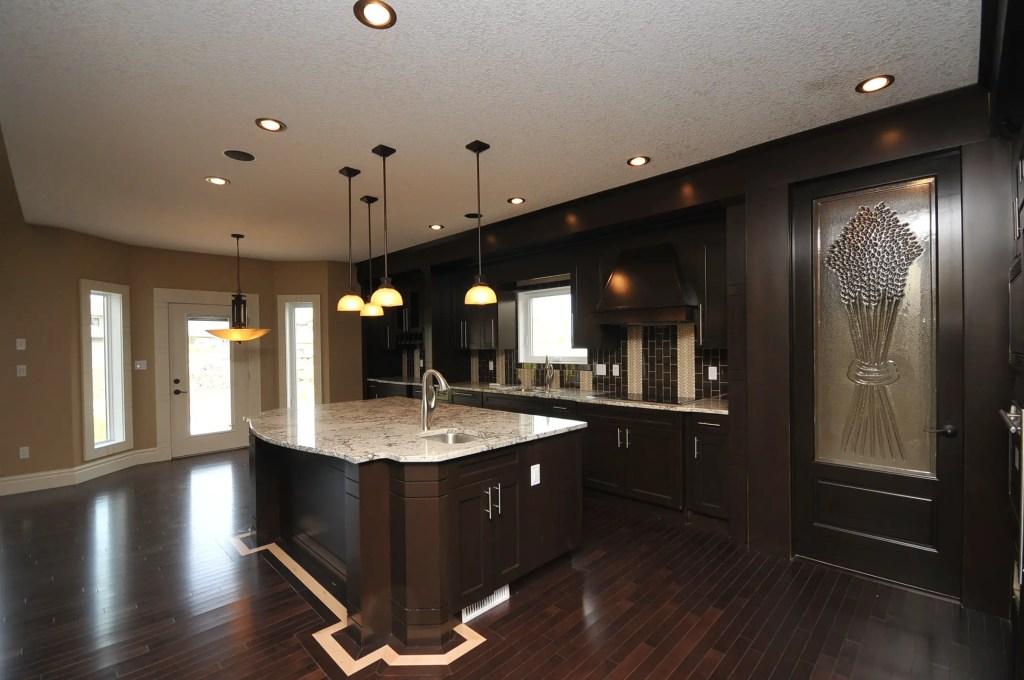 dark brown maple kitchen