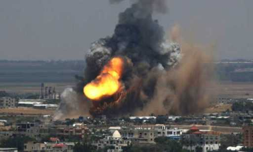 an-israeli-air-strikenbspon-gaza-on-july-8