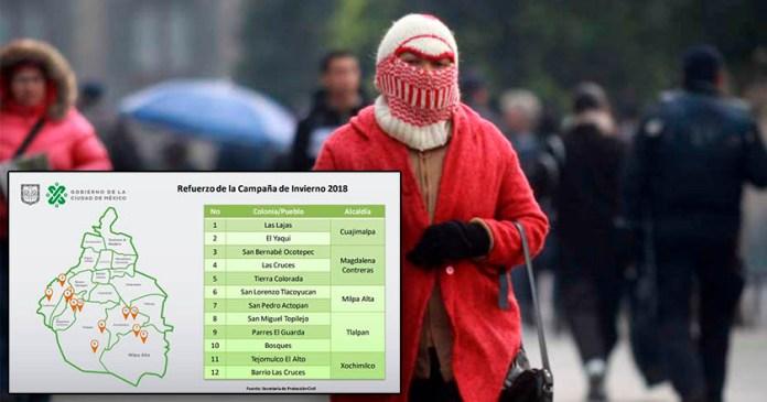 Repartirán paquetes de invierno en puntos más fríos de la capital