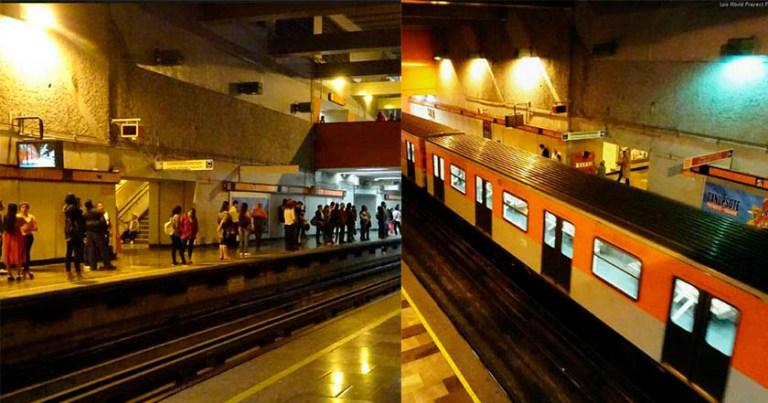 Un joven cayó accidentalmente a las vías del metro Tacuba, Línea 7