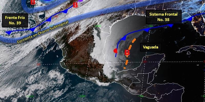 18feb - Al norte séptima tormenta invernal, 'onda de calor' en el resto del país