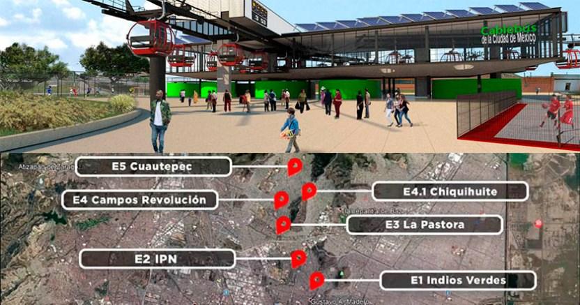 CDMX construirá Cablebús de Indios Verdes a Cuauhtepec en la Gustavo A Madero - Sheinbaum lanza el sistema de Cablebús, la primera línea se instalará en GAM