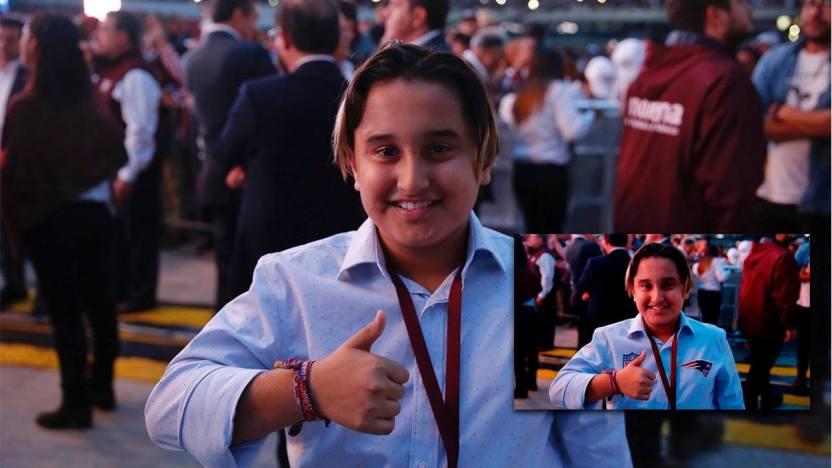 Difunden imagen falsa del hijo de AMLO en el Super Bowl - Difunden imagen falsa del hijo de AMLO en el Super Bowl
