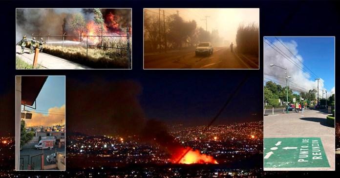 Fuerte incendio en Xocimilco y otras cuatro alcaldías en un solo día