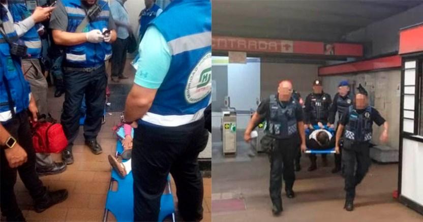 Accidente en escaleras de estación Mixcoac deja a 8 personas lesionadas  - Accidente en escaleras de estación Mixcoac deja a 8 personas lesionadas