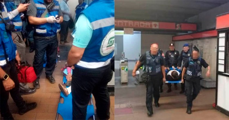 Accidente en escaleras de estación Mixcoac deja a 8 personas lesionadas