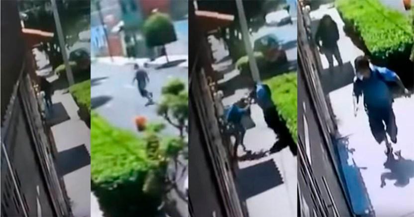 Mujer resiste asalto en Azcapotzalco hace que el ladrón huya Video - Mujer resiste asalto en Azcapotzalco, hace que el ladrón huya (Video)