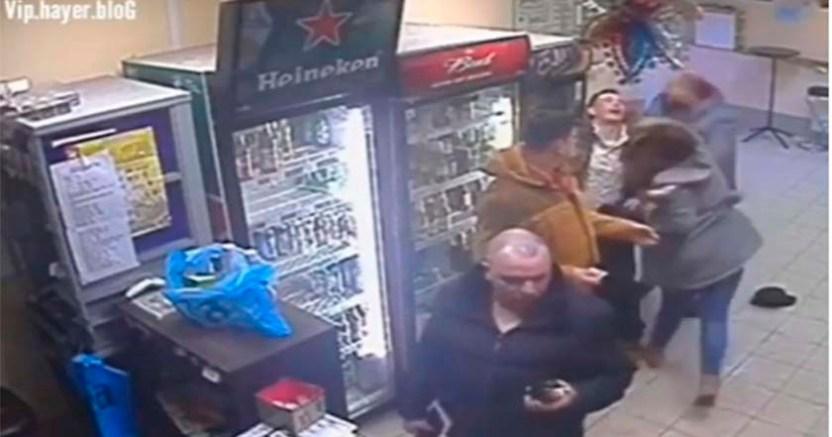 Peleador de la UFC es noqueado por una mujer en Rusia - Mujer noquea a sujeto que golpeaba a un hombre ebrio en Rusia