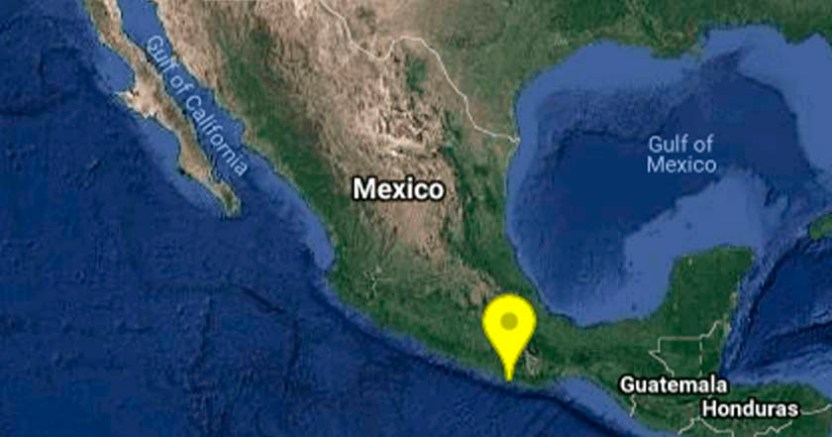 Se registró un sismo de magnitud 4.1 grados en Río Grande Oaxaca - Se registró un sismo de magnitud 4.1 en Salina Cruz, Oaxaca