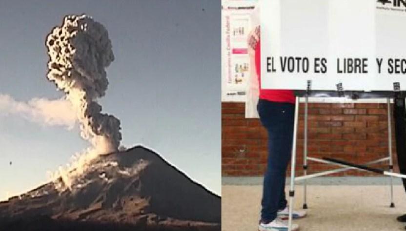 elecciones popo - El volcán Popocatépetl podría afectar posición de casillas en Puebla