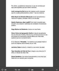 me too comunicado 2 251x300 - #MeTooMusicosMexicanos anuncia que se despide del movimiento