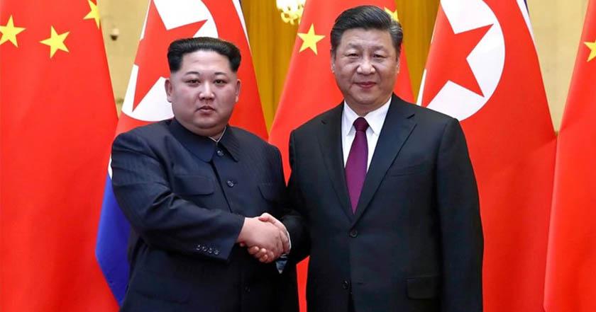 rEUNIÓN  - Se reúne con Xi Jinping con Kim Jong Un en Corea del Norte