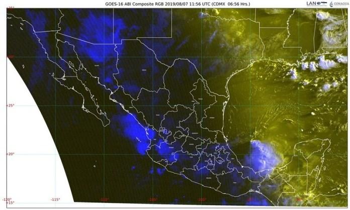 Hoy, lluvias intensas en Sinaloa, Nayarit, Jalisco, Oaxaca y Chiapas