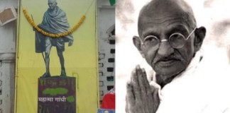 Roban cenizas de Mahatma Gandhi a 150 años de su natalicio