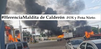"Sinaloa, balacera ""Herencia Maldita"" neoliberal"