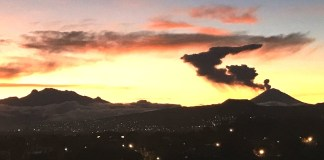 Popocatépetl, amanecer en lunes