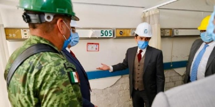 IMSS reconstrucción de hospital de S. Alejandro por Sedena