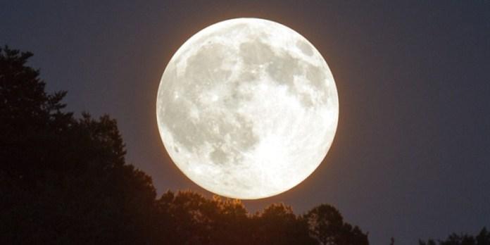 Super luna de invierno en la noche del 8 de febrero