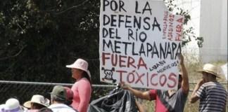 Semarnat intercede ante afectaciones del Río Metlapanapa en Puebla