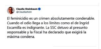 Sheinbaum, caso Ingrid