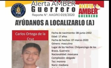 Ayotzinapa, alerta Amber por desaparición de hijo de vocero