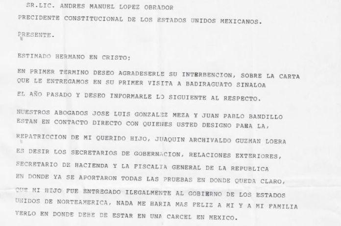 Madre de El Chapo a AMLO: me haría feliz verlo en una cárcel de México