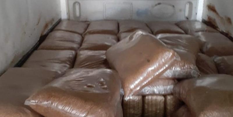 marihuana entre melaza - Guardia Nacional asegura tonelada de marihuana en Guanajuato