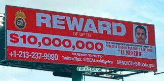 Ofrecen 10 millones por 'El Mencho', el más buscado por la DEA