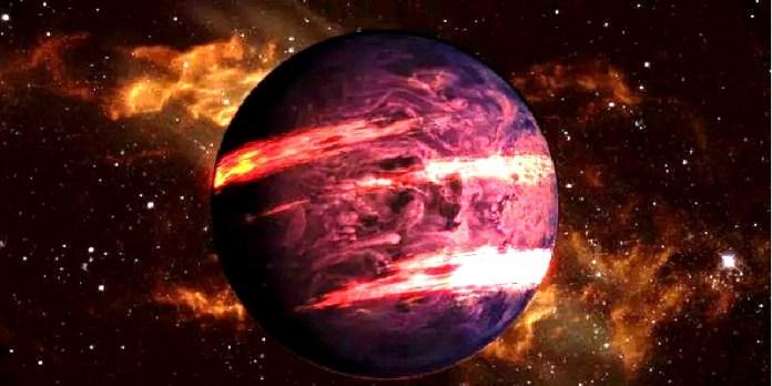 Planeta donde llueve hierro (ilustración)