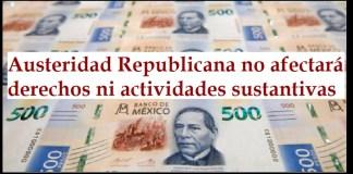 Austeridad republicana ante coronavirus