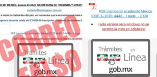 ¡Cuidado!, circula correo falso que ofrece un 'bono de emergencia'