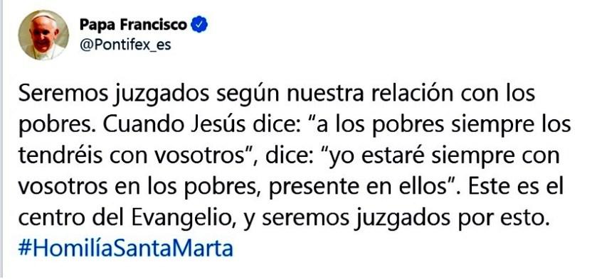 francisco - Atender a los pobres, esencia de evangelios, cita AMLO a Francisco