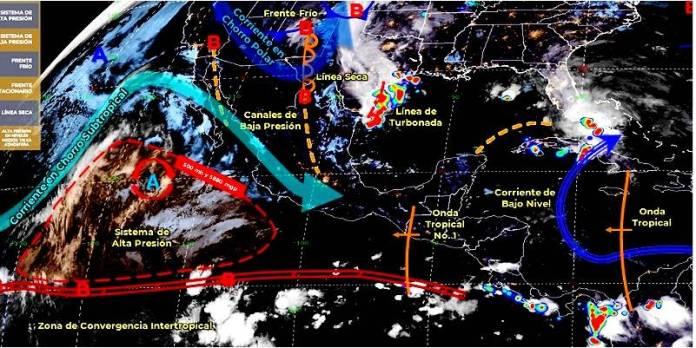Extremos climáticos en México, 25 de mayo del 2020