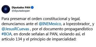PAN acusa a AMLO y Jesús Ramírez ante INE por BOA