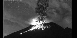 Volcán Popocatépetl, México, 16 de junio del 2020