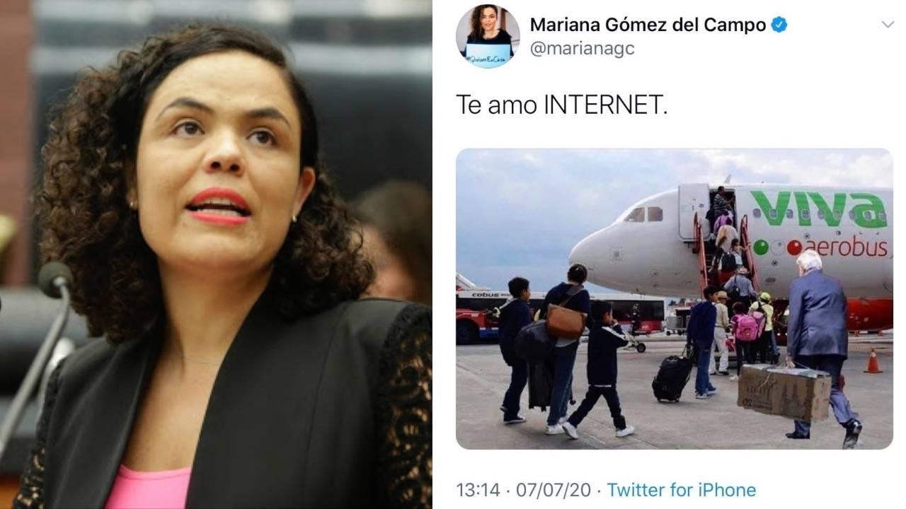 Mariana Gómez del Campo, criticada por meme ''clasista'' de AMLO