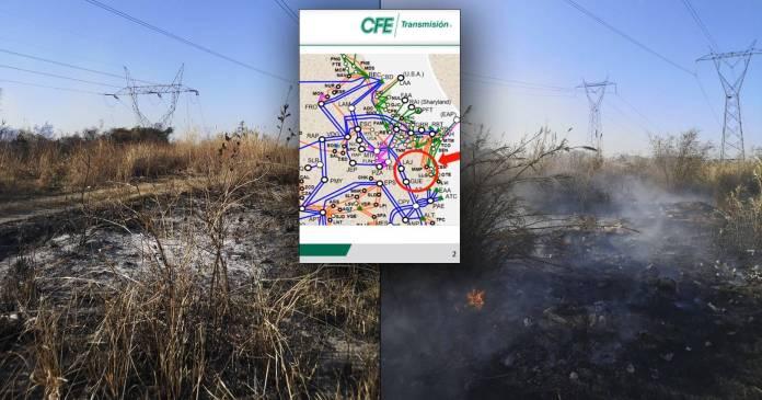 Si hubo incendio en Tamaulipas que inicio apagon CFE presenta pruebas - Sí hubo incendio en Tamaulipas que inició apagón; CFE presenta pruebas (video)