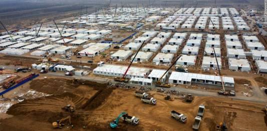 Construyen otro Megahospital Covid en China en tiempo récord
