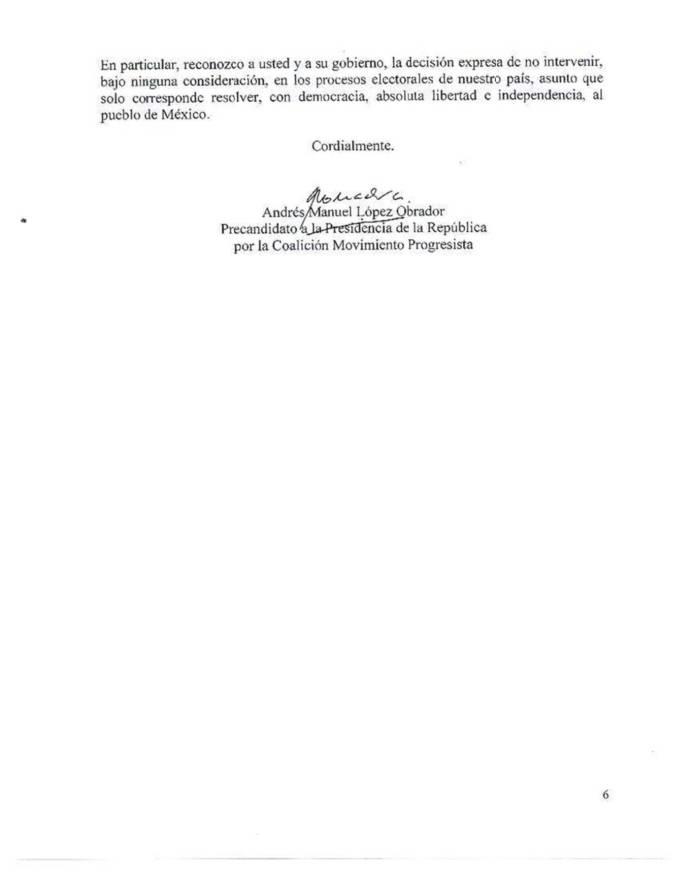 Carta de AMLO al Vicepresidente Joe Biden 2012 Reforma Migratoria 04