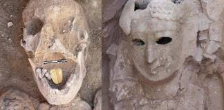 Descubren en Egipto momia de dos mil años de antigüedad con lengua de oro