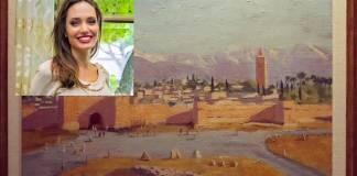 Angelina Jolie vende en 11.5 mdd pintura de Churchill que le regaló Brad Pitt